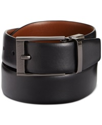 Perry Ellis Reversible Feather Edge Soft Touch Cowhide Belt