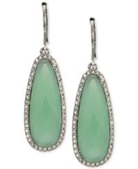 Lonna And Lilly Silver Tone Stone And Crystal Drop Earrings Green