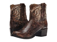 Stetson Sarah Distressed Brown Vamp Cowboy Boots