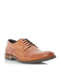 Dune Brummie Lace Up Plain Almond Toe Gibsons Tan