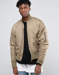 Other Uk Oversized Bomber Jacket Stone