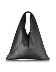 Maison Martin Margiela Black Nylon Pufft Triangle Shoulder Bag