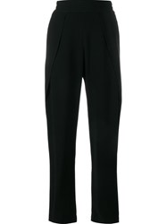 Jonathan Simkhai Split Detail Crepe Trousers Black