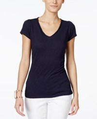 Inc International Concepts V Neck Tee Deep Twilight