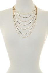 Spring Street 7 Chain Dainty Necklace Metallic