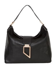 Foley Corinna Valerie Leather Hobo Bag Black