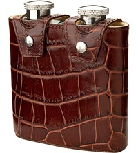 Aspinal Of London Double Hip Flask Amazon Brown