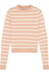 Richard Nicoll Striped Stretch Knit Sweater Orange