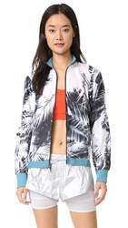 Adidas By Stella Mccartney Run Palm Print Jacket Black White
