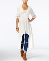 American Rag High Low Tunic Only At Macy's Off White
