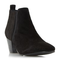 Dune Perdy Suede Casual Low Boots Black