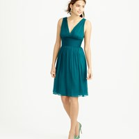 J.Crew Petite Ava Dress In Silk Chiffon