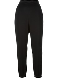 Sonia Rykiel Cropped High Waisted Trousers Black