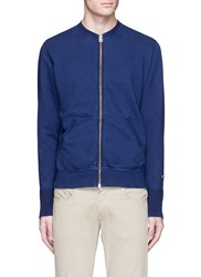Fdmtl Cotton French Terry Jacket Blue