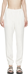 Lanvin Ivory Draping Lounge Pants