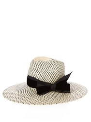 Benoit Missolin Lombok Straw Hat Black Cream