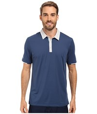 Adidas Climacool Performance Polo Mineral Blue Stone Men's Clothing