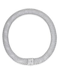 Macy's Diamond Mesh Collar Necklace 5 8 Ct. T.W. In Sterling Silver