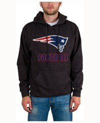 Junk Food Men's New England Patriots Wing T Formation Hoodie Heather Charcoal