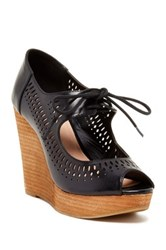 Restricted Mikie Peep Toe Wedge Black