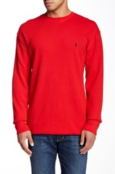 Ralph Lauren Thermal Crew Neck Lounge Sweater Tall Red