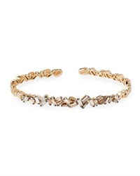 Suzanne Kalan Champagne Baguette Diamond Bangle In 18K Rose Gold