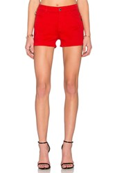 Love Moschino Jean Shorts Red