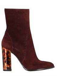 Trussardi 110Mm Suede Ankle Boots