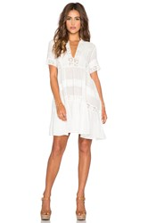 Spell And The Gypsy Collective Peasant Girl Throw On Mini Dress White
