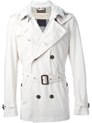 Burberry London Short Trench Coat Grey