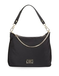 Karl Lagerfeld Nylon Hobo Bag Black Gold