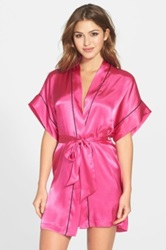 In Bloom By Jonquil 'Je T'aime' Satin Kimono Robe Pink
