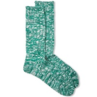 Anonymous Ism Slub Crew Sock Green