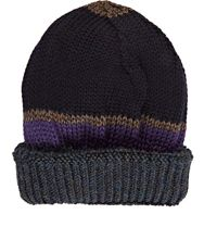 Inis Meain Mixed Stitch Beanie Grey