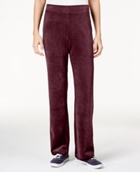 Karen Scott Petite Velour Pull On Pants Only At Macy's Merlot