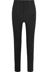 Givenchy High Rise Stretch Cotton Blend Skinny Pants