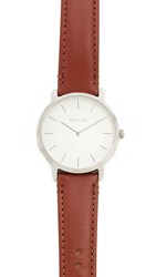 Nixon The Porter Watch Silver Brown