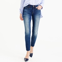 J.Crew Pre Order Toothpick Cone Denim Jean In Destroyed Wash
