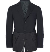 Wooster Lardini Slim Fit Herringbone Wool Blazer Gray