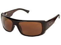 Maui Jim Five Caves Dark Tortoise Stripe Hcl Bronze Fashion Sunglasses Black
