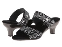 Helle Comfort Bona Black White Women's Sandals