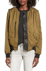 Blank Nyc Women's Blanknyc 'Commuter Sentence' Bomber Jacket Shes A Toad