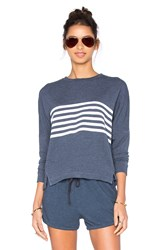 Sundry Striped Dolman Long Sleeve Top Blue