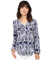 Lilly Pulitzer Lilias Top Bright Navy Tons Of Fun Women's Clothing