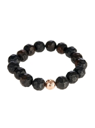 Luis Morais Rose Gold And Ebony Bead Bracelet