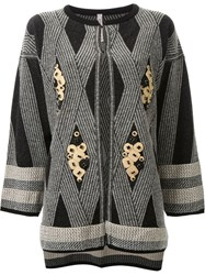 Antonio Marras Diamond Pattern Cardigan Black