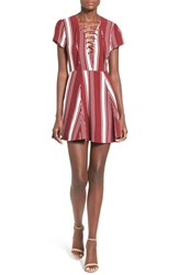 Lovers Friends Women's 'Compass' Stripe Fit And Flare Dress