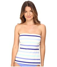 Kate Spade Early Cruise 17 Bandeau Tankini Adventure Blue Women's Swimwear