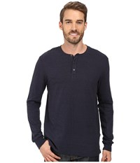 Threads For Thought Double Face Long Sleeve Henley Blue Nights Men's Clothing