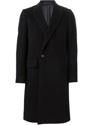 Ps Paul Smith Double Breasted Overcoat Black